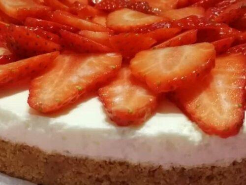 Cheesecake con fragole fresche: la mia ricetta